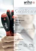 Сертификат WIHA